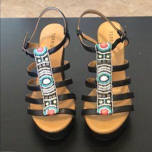 Torrid wedge sandal heels sz 10